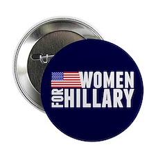 """Women Hillary Blue 2.25"""" Button"""