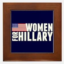 Women Hillary Blue Framed Tile