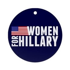 Women Hillary Blue Ornament (Round)