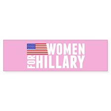 Hillary Pink Women Bumper Sticker
