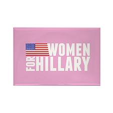 Hillary Pink Women Rectangle Magnet
