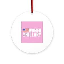 Hillary Pink Women Ornament (Round)