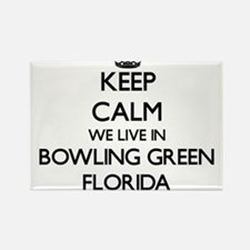 Keep calm we live in Bowling Green Florida Magnets