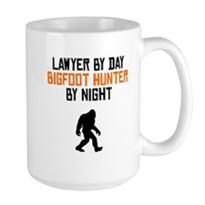Lawyer By Day Bigfoot Hunter By Night Mugs