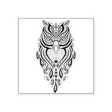 Owl. Ethnic pattern. Sticker