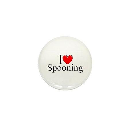 """I Love (Heart) Spooning"" Mini Button"