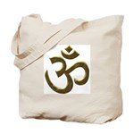 Ohm & Buddha Quote Tote Bag