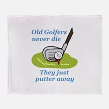 OLD GOLFERS NEVER DIE Throw Blanket