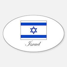 Israel - Israeli Flag Oval Decal