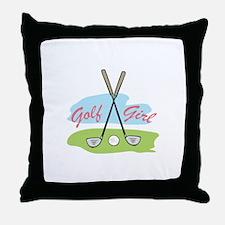 GOLF GIRL Throw Pillow
