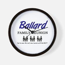 Ballard Family Reunion Wall Clock