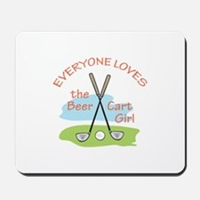 LOVE BEER CART GIRL Mousepad