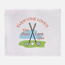 LOVE BEER CART GIRL Throw Blanket