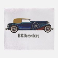 1932 Duesenberg Throw Blanket