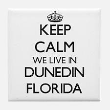 Keep calm we live in Dunedin Florida Tile Coaster