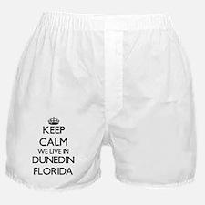 Keep calm we live in Dunedin Florida Boxer Shorts