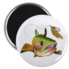 TROUT AND FLY Magnets