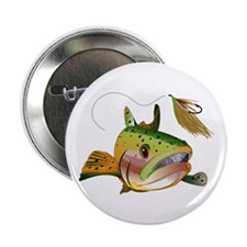 "TROUT AND FLY 2.25"" Button (10 pack)"