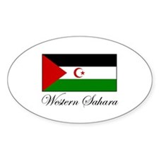 Western Sahara - Flag Oval Decal