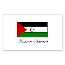 Western Sahara - Flag Rectangle Decal