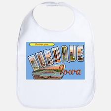 Dubuque Iowa Greetings Bib