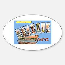 Dubuque Iowa Greetings Oval Stickers