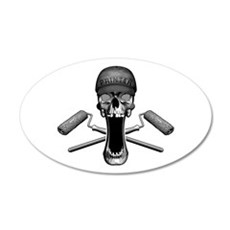 Painter Skull and Rollers Wall Decal