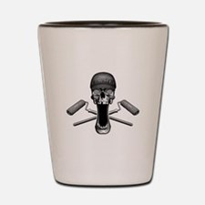 Painter Skull and Rollers Shot Glass