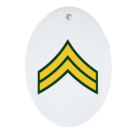 """Army E4 """"Class A's"""" Oval Ornament"""