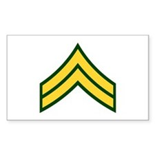 "Army E4 ""Class A's"" Rectangle Decal"