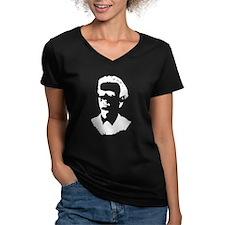 V-Neck Dark T-Shirt For Women