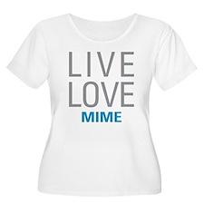 Live Love Mime Plus Size T-Shirt