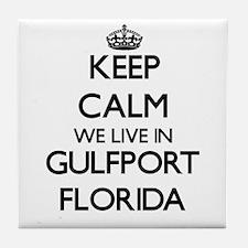 Keep calm we live in Gulfport Florida Tile Coaster