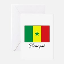 Senegal - Flag - Gambia Greeting Cards (Package of