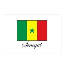 Senegal - Flag - Gambia Postcards (Package of 8)