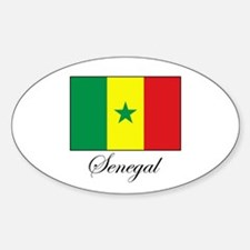 Senegal - Flag - Gambia Oval Decal