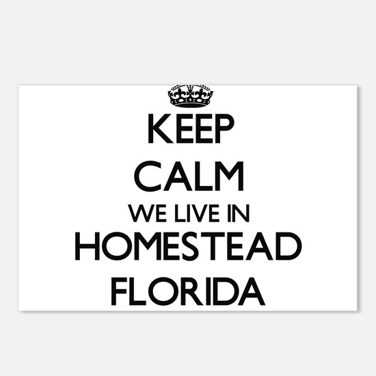 Keep calm we live in Home Postcards (Package of 8)