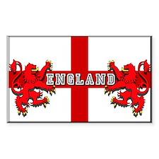 England Red Lions Sticker (Rectangular)