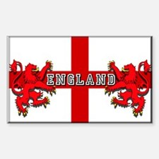 England Red Lions Sticker (Rectangular)