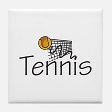 TENNIS BALL AND NET Tile Coaster