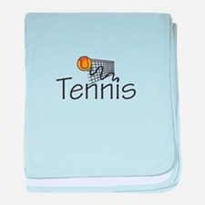 TENNIS BALL AND NET baby blanket