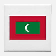 Maldive Islands - Maldives Fl Tile Coaster