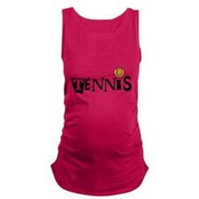 TENNIS LETTERS Maternity Tank Top