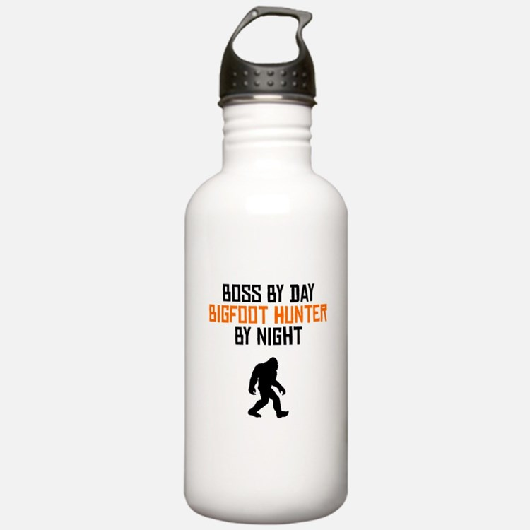Boss By Day Bigfoot Hunter By Night Water Bottle