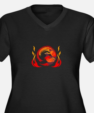 PHOENIX RISING FROM FLAMES Plus Size T-Shirt