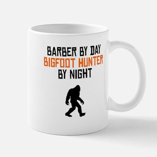 Barber By Day Bigfoot Hunter By Night Mugs