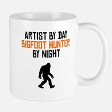 Artist By Day Bigfoot Hunter By Night Mugs