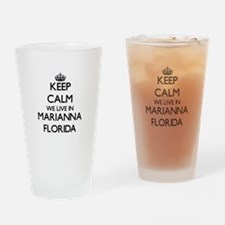 Keep calm we live in Marianna Flori Drinking Glass