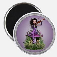 Amethyst Fairy and Violin Magnets