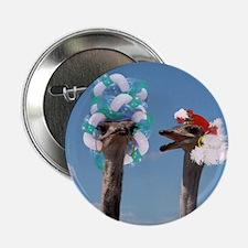 """Crazy Hat Day - Ostrich Fashion 2.25"""" Button"""